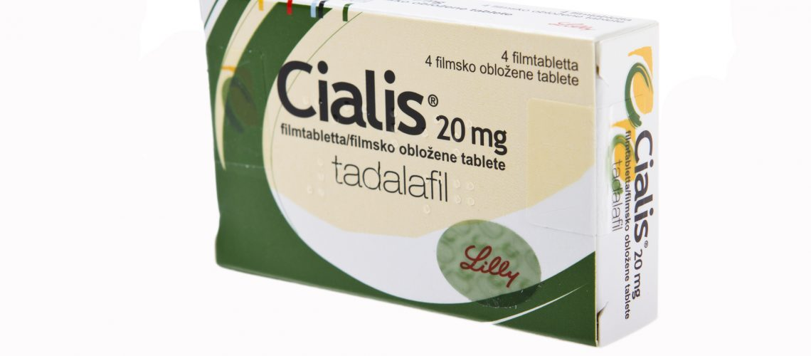 Cialis tablets pills isolated on white studio shot