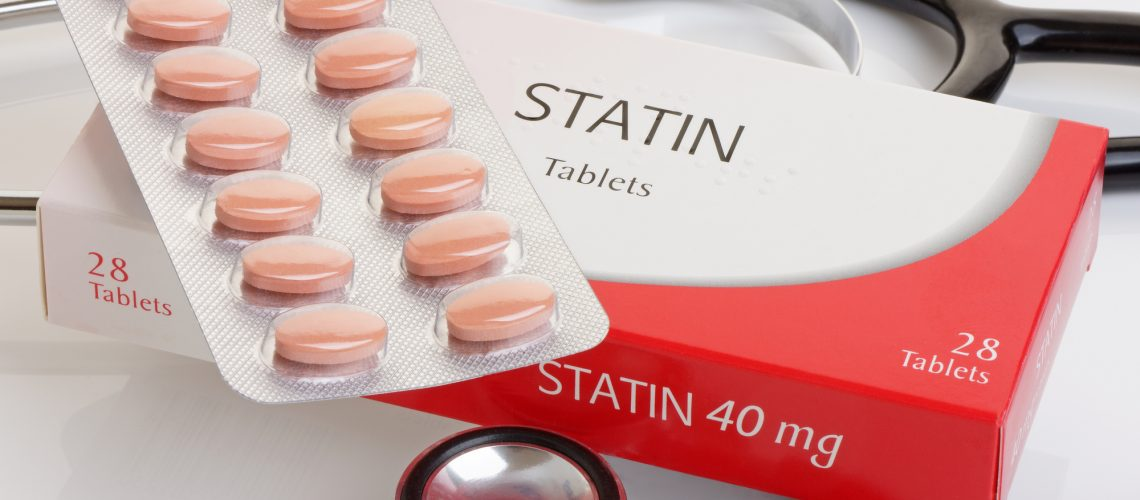 A generic pack of statins with a stethoscope.  A controversial anti cholesterol medication.All logos removed.