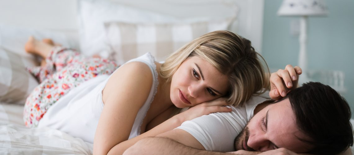 Picture of young couple having relationship problems crisis